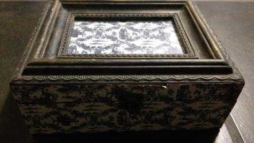Vintage wood storage box