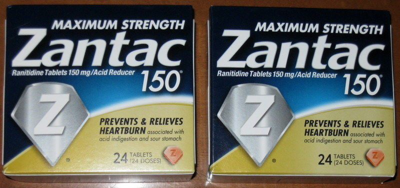 2 ZANTAC 150 MAXIMUM STRENGTH RANITIDINE TABLETS 48 HEARTBURN RELIEF EXP 11/2019