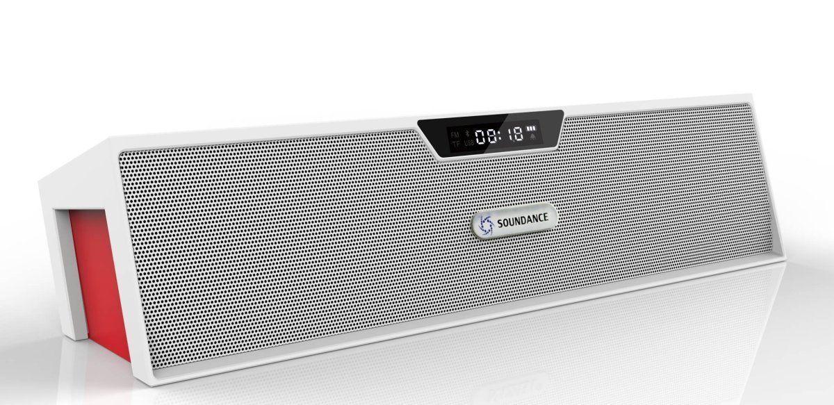 Soundance Bluetooth Speakers with FM Radio, Alarm Clock, Built-in Mic, LED Displ