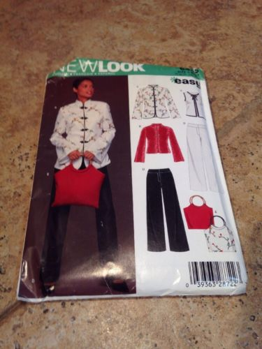 New Look 6435 ASIAN INSPIRED Jacket Top Pants Bag Plus Sz 10-22 Mandarin Uncut