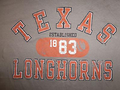 NCAA University of Texas UT Football Longhorns Light Grey Graphic Print TShirt L