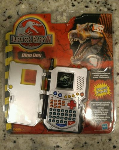 NEW - JURASSIC PARK  DINO DEX ELECTRONIC GAME - MADE 2001 - TIGER ELECTRONICS