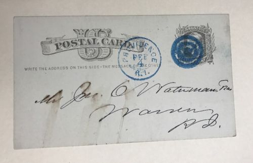 1876 Postcard John A Mitchell Cotton Quotes New Orleans Postmarked Providence RI