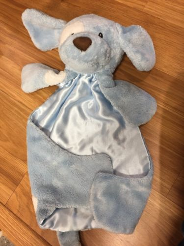 Boys Baby Gund Huggybuddy Spunky Puppy Dog Lovey Security Blanket Blue Soft (13)