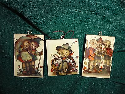 Hummel Set of 3 Wooden Wall Hangers Germany