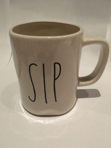 NEW Rae Dunn Magenta Ceramic Big Letter SIP Mug RARE
