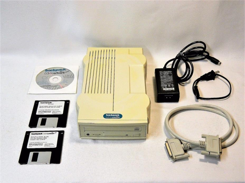 MICRO SOLUTIONS BACKPACK PORTABLE CD-REWRITER 192100 SERIES 6 DRIVER + EXTRAS!