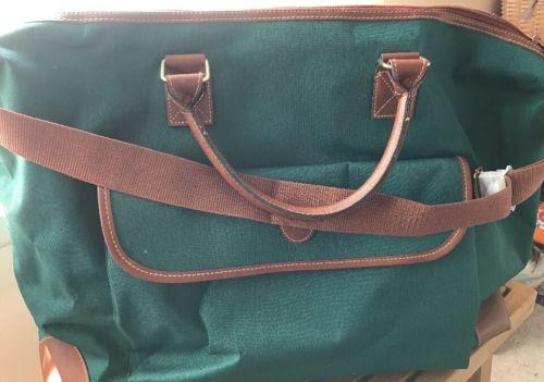 Ralph Lauren Polo Green Canvas Gym/travel Shoulder Bag 15H x 22L