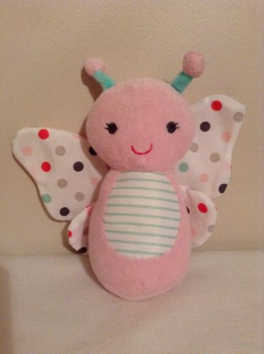Just One You By Carters Plush Butterfly Lovey Pink With Polka Dot Wings