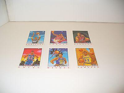 1991 Fleer Basketball Pro Vision Insert 6 Card Set