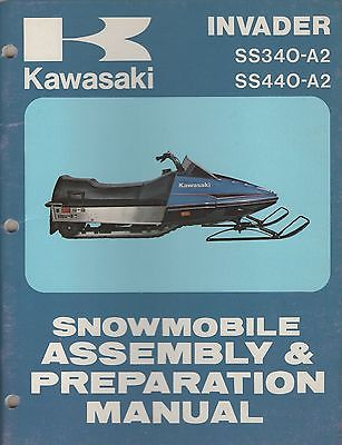 1979 KAWASAKI SNOWMOBILE INVADER SS340-A2 ASSEMBLY & PREPARATION MANUAL (882)