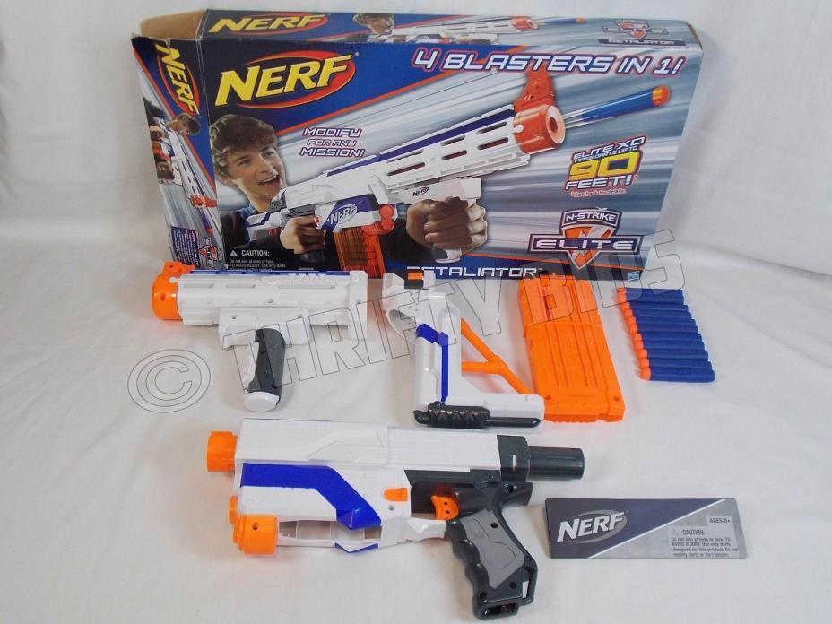 Nerf N-Strike Elite Retaliator 11 Elite Soft Darts 4 Blasters in 1 Hasbro 98696