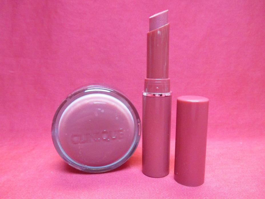 Clinique Almost Lipstick + Sweet Pots Sugar Scrub & Lip Balm~Pink Honey~NEW