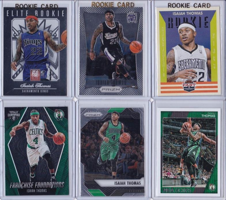 6X PRIZM LOT 2012-13 ISAIAH THOMAS ROOKIE RC ELITE /599 CERTIFIED BOSTON CELTICS