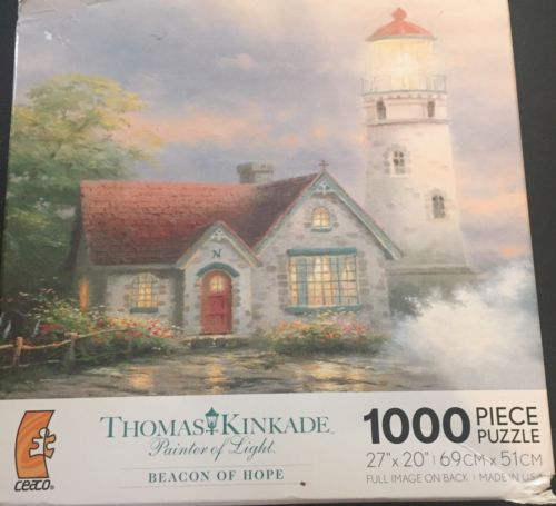 CEACO 1000pc THOMAS KINKADE • BEACON OF HOPE • PUZZLE Jig Saw USA MADE