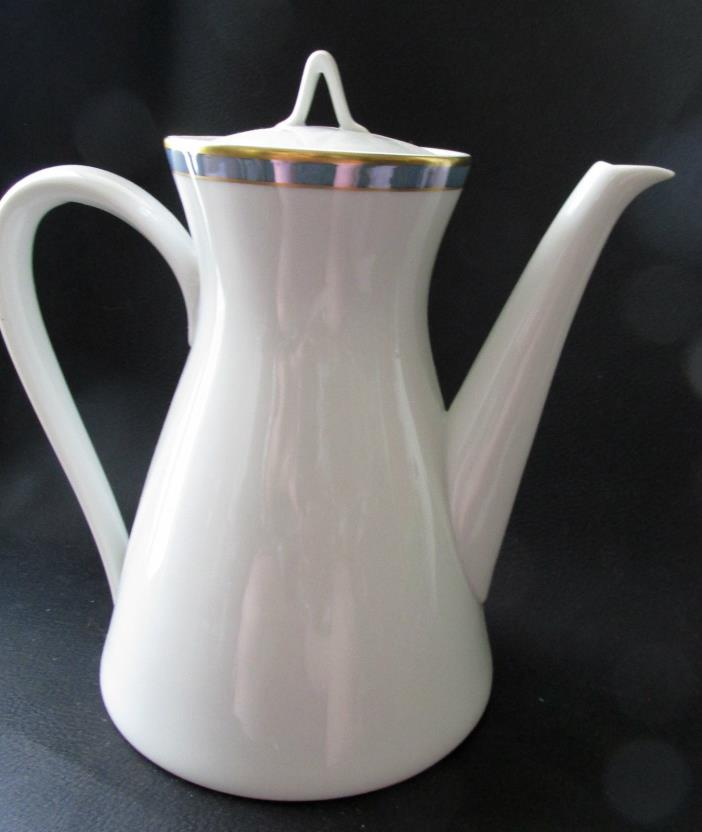 Rosenthal Gala Blue CLASSIC ROSE Teapot/Small Coffee Pot & Lid Loewy Mid-Century