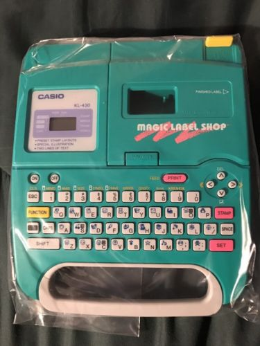 Casio Magic Label Shop KL-430 Portable Printer - Brand New In Box