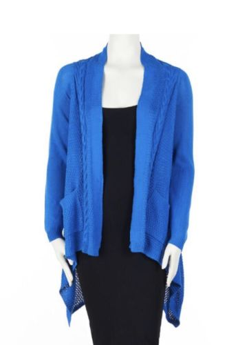 Melissa Paige Woman's Extra Large Blue Open Front Cardigan