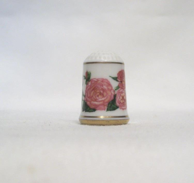Franklin Royal National Rose Society Porcelain Thimble 1979  - HANDEL