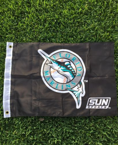 Florida Miami Marlins Banner Flag Man Cave Shop Baseball MLB