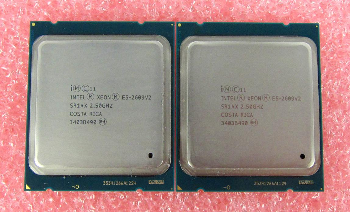 Matched Pair Intel Xeon Processor E5-2609 V2 10M Cache, 2.50 GHz SR1AX