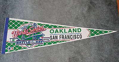 1989 SAN FRANCISCO GIANTS OAKLAND A'S BATTLE OF THE BAY WORLD SERIES PENNANT