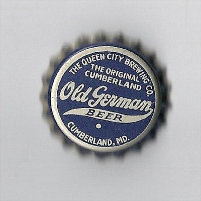 The Old German BeerThe Queen City Brewing Co.Beer Cork Bottle Cap Cumberland,Md.