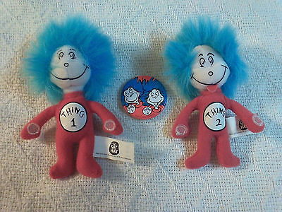 Dr. Seuss The Cat In The Hat Thing 1 and Thing 2 Official Movie Merch. Plus Pin