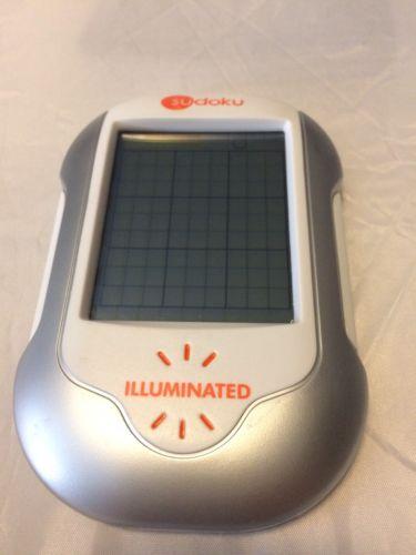 Sudoku Handheld Illuminated Electronic Silver Orange