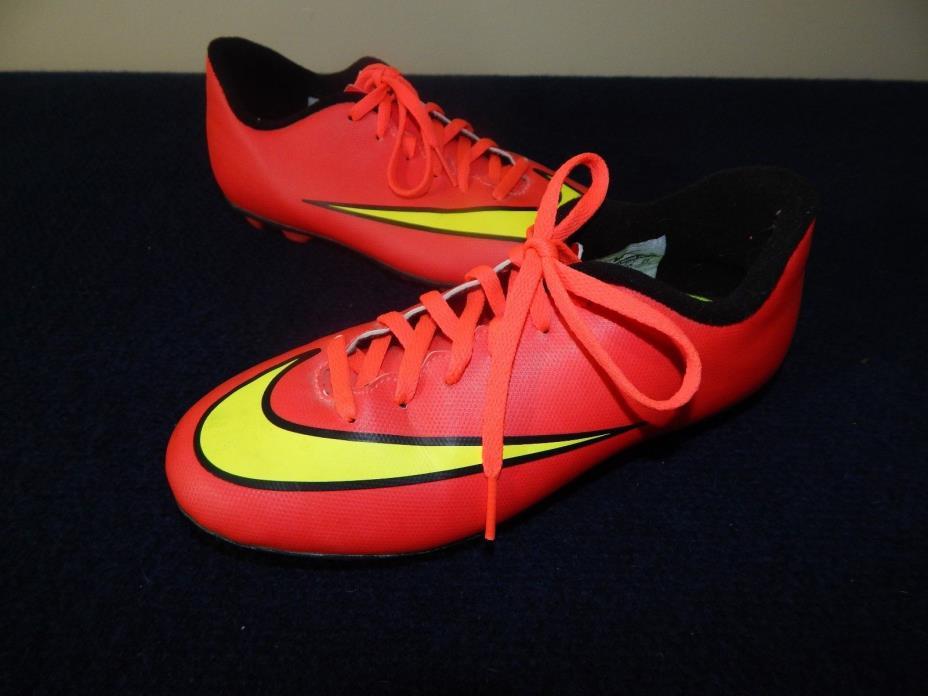 Boys Nike Mercurial Vortex II FG-R JR Soccer Cleats 651642-690 Size 3 Youth