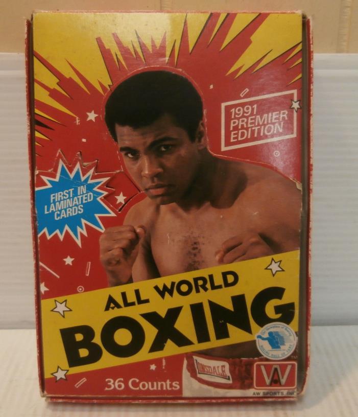 1991 Premier Edition All World Boxing Muhammad Ali w/32 Sealed Packs Orig.Box