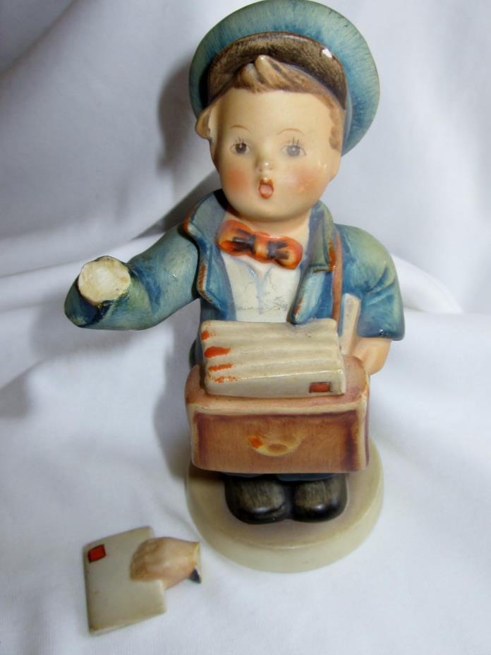 vtg M.J. Hummel Figurine Postman #119 Germany bee