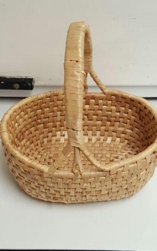 Vintage Coil Basket w/ Handle