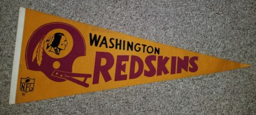 Vintage 1960's/70's Washington Redskins NFL Pennant 12