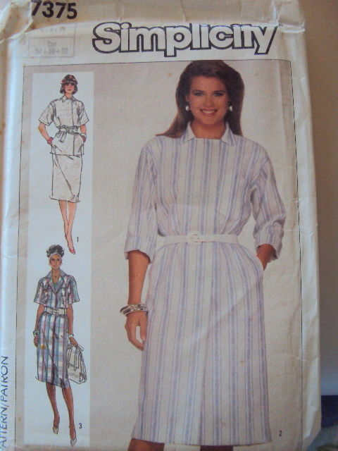 Simplicity  Dress Pattern 7375 UNCUT size 6-10  Vintage Free Shipping