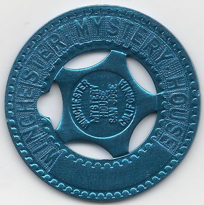 Winchester Mystery House Blue Typed Typer Token