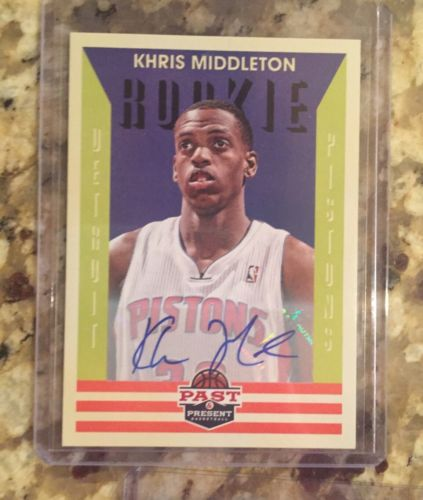 KHRIS MIDDLETON Bucks 2012-13 Panini Past & Present Autograph RC AUTO