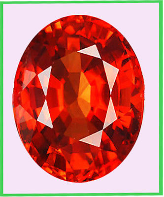 2.22 cts WONDERFUL NATURAL ORANGE SAPPHIRE NICE OVAL