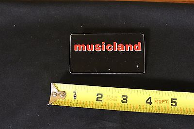 Musicland Music Store Name Tag