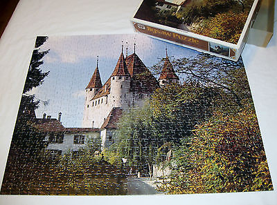 Vtg Jigsaw PUZZLE Thun Castle Whitman 600pcs 16x20 Complete #4648