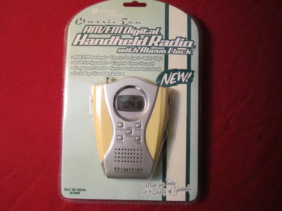 Lifelong am/fm digital handheld radio with alarm clock