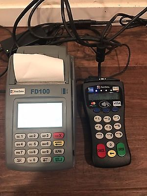 FIRST DATA FD100 Terminal Credit Card Machine & FD30 Pin Pad