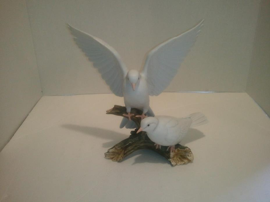 Rare Vintage Home Interiors Masterpiece Porcelain Doves Figurine by Homco, 1985
