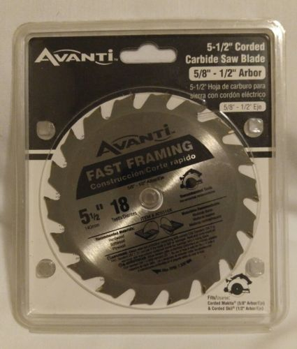 AVANTI 5-1/2 in. x 18-Tooth Fast Framing Finish Saw Blade. (5/8