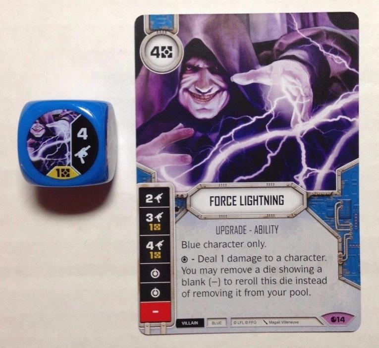Star Wars Destiny FFG Force Lightning + Die Set 2 LEGENDARY