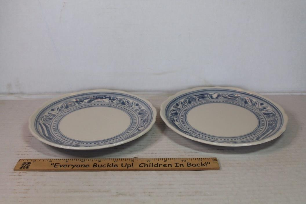 VTG Lot (2) Syracuse China Restaurant Ware Plate LIBERTY Blue Eagle Patriotic 9