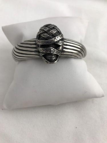 Large Stainless Steel Mummy Cuff Bracelet