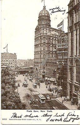 Postcard NEW YORK CITY NY  Park Row view 1906?