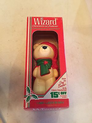 1984 Wizard White TEDDY BEAR Decorative Air Freshener CHRISTMAS DECORATION
