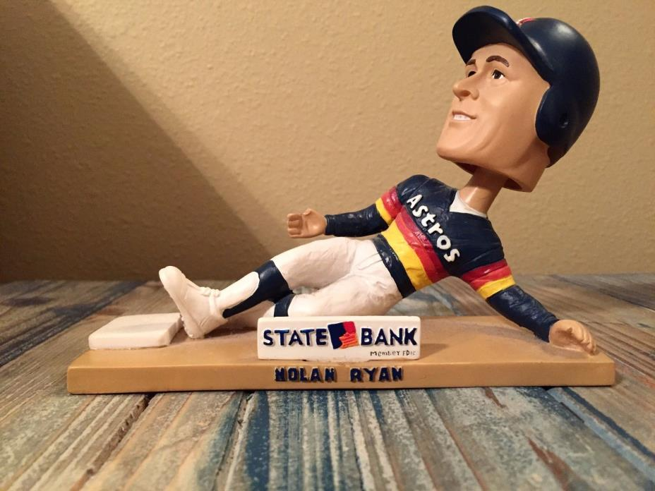 Nolan Ryan Bobble Head (2006) Commemorating 3 Career Stolen Bases in Astros Uni